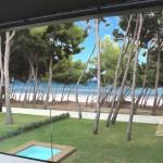 Blick Terrasse 1.OG Penthaus in der 1.Meereslinie mit direktem Zugang zum kilometerlangen Sandstrand der Playa de Muro