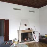 Wohnzimmer sanierungsbedürftige mallorquinische Villa Alcudia Mal Pas