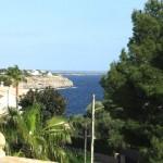 Blick Dachterrasse 3te Meereslinie Cala Pi