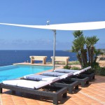 Meerblick Terrasse und Pool 1.Meereslinie Villa Vallgornera Nou